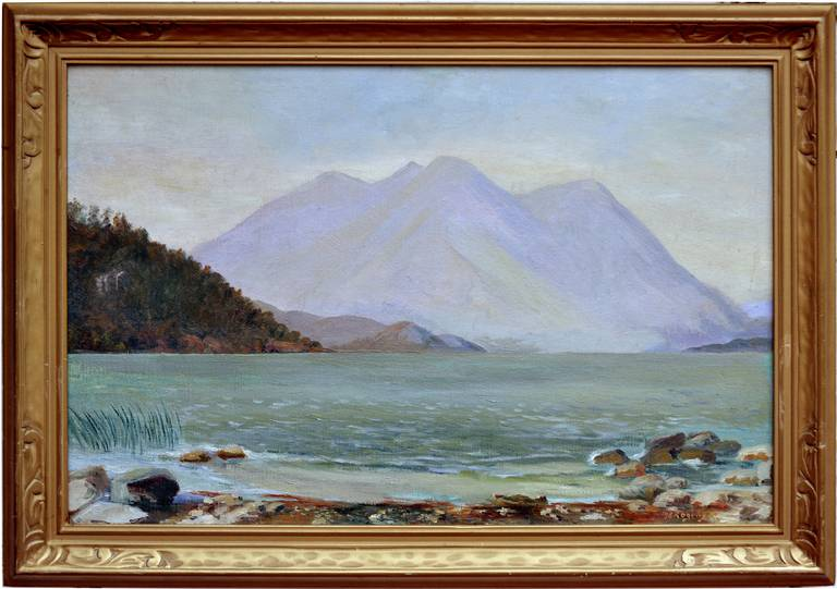 Maragret Rogers Landscape Painting - Clear Lake, California, 1920