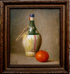 Chianti with Orange Still Life
