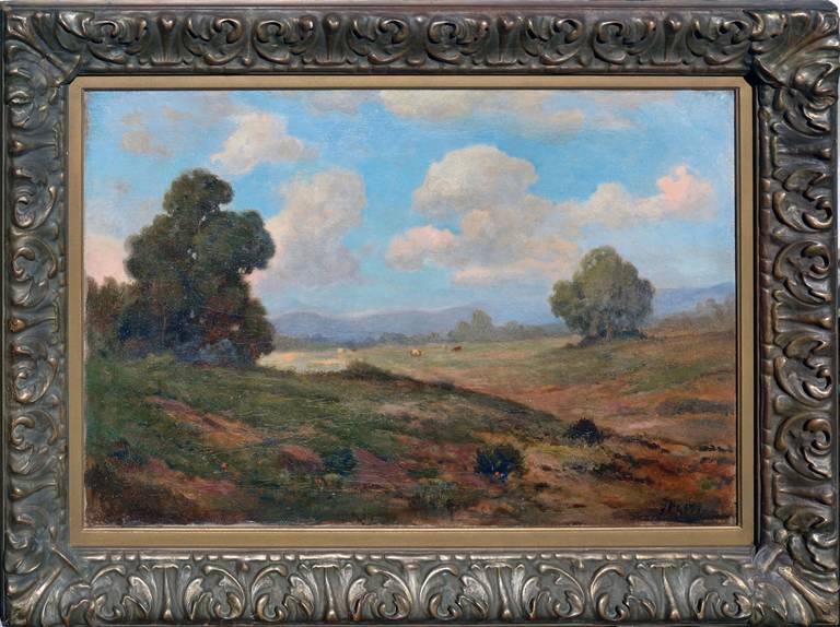 John Calvin Perry Landscape Painting - 19th Century View of Mt. Tamalpais Landscape