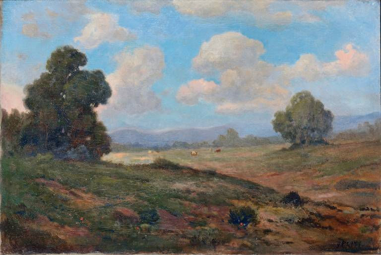 19th Century View of Mt. Tamalpais Landscape - Painting by John Calvin Perry
