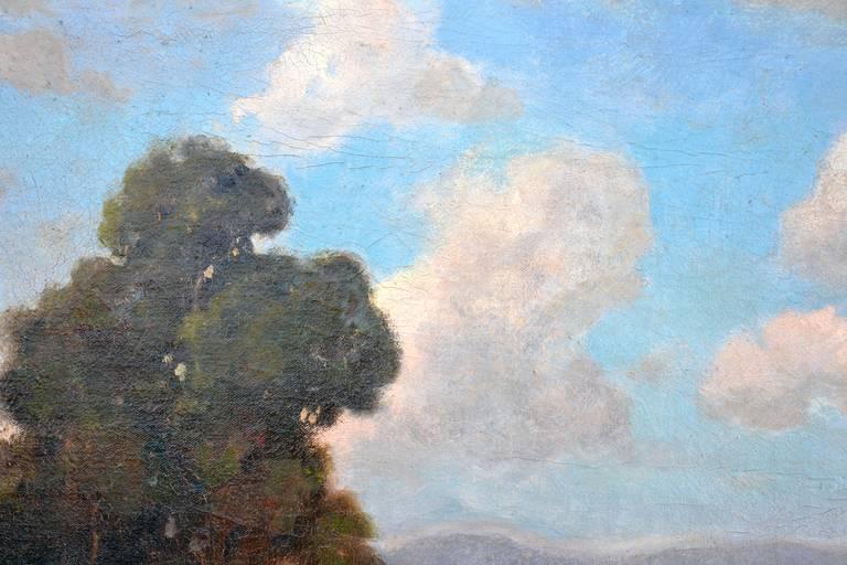 19th Century View of Mt. Tamalpais Landscape - Black Landscape Painting by John Calvin Perry