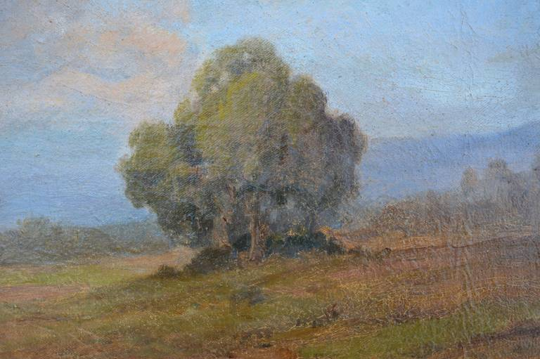 19th Century View of Mt. Tamalpais Landscape - American Impressionist Painting by John Calvin Perry