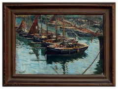 Early 20th Century Cornish Harbor Fishing Boats