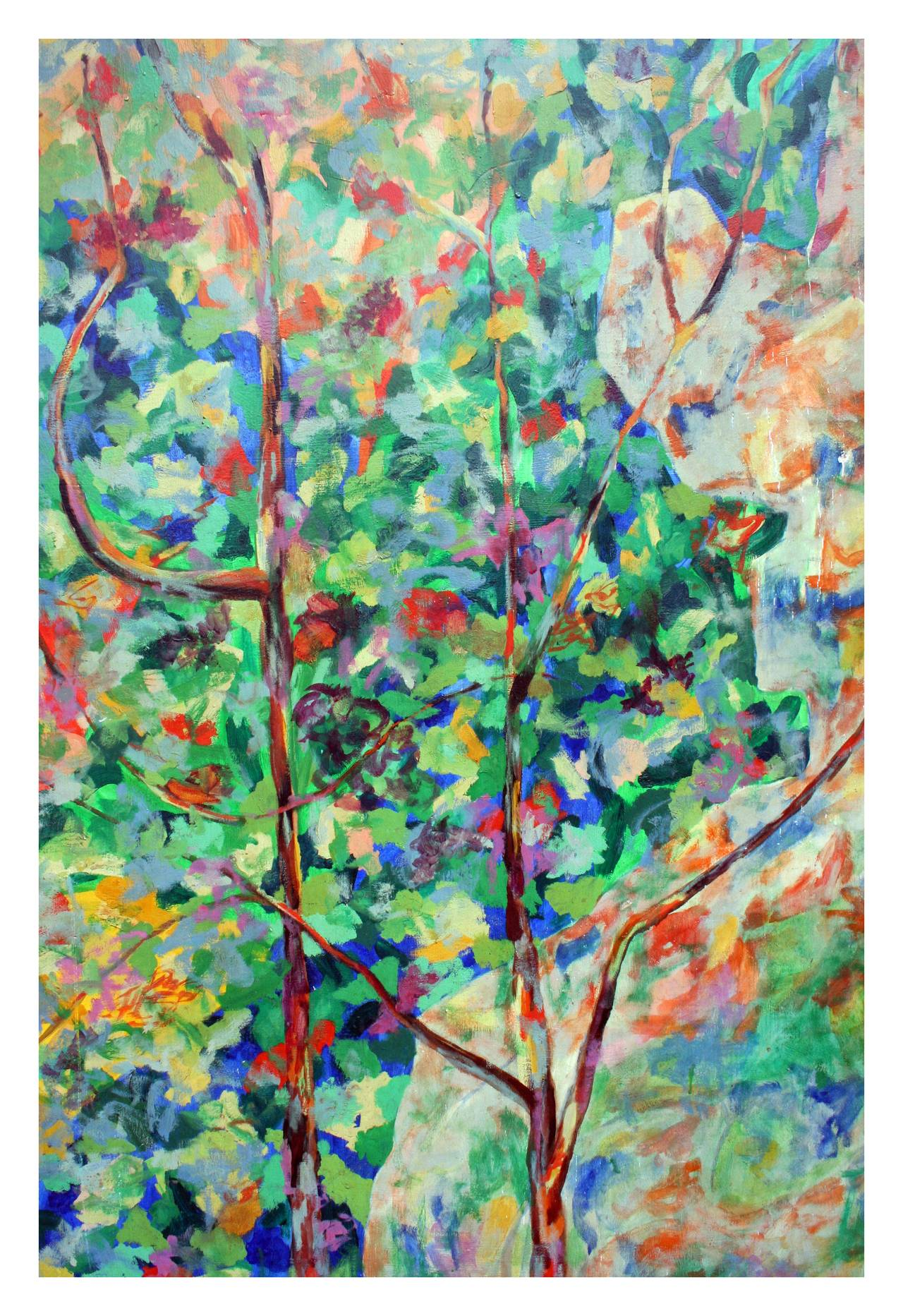 Wild The Flowers, Berkeley - Abstract Expressionist Painting by Louis Earnest Nadalini