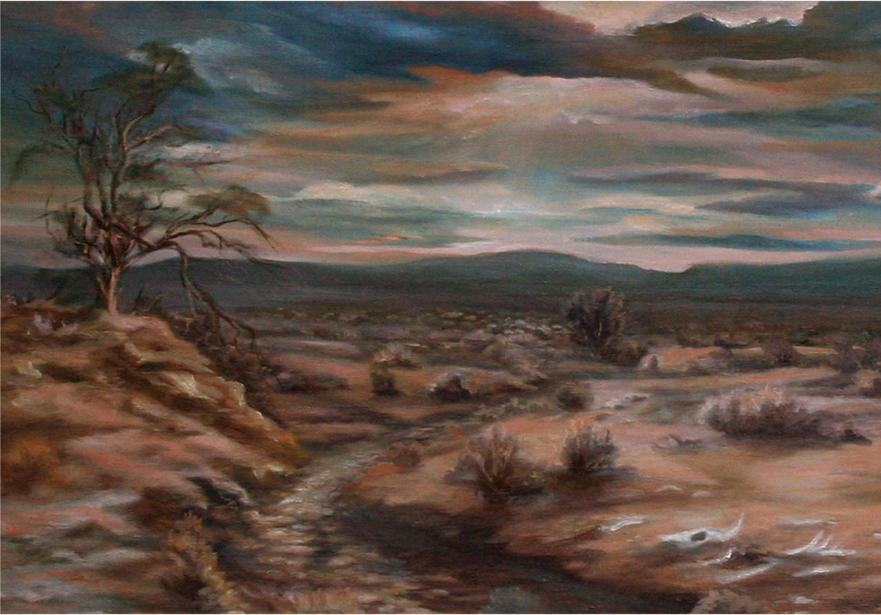 Bernice Mitchel Desert Sunset Painting For Sale At 1stdibs