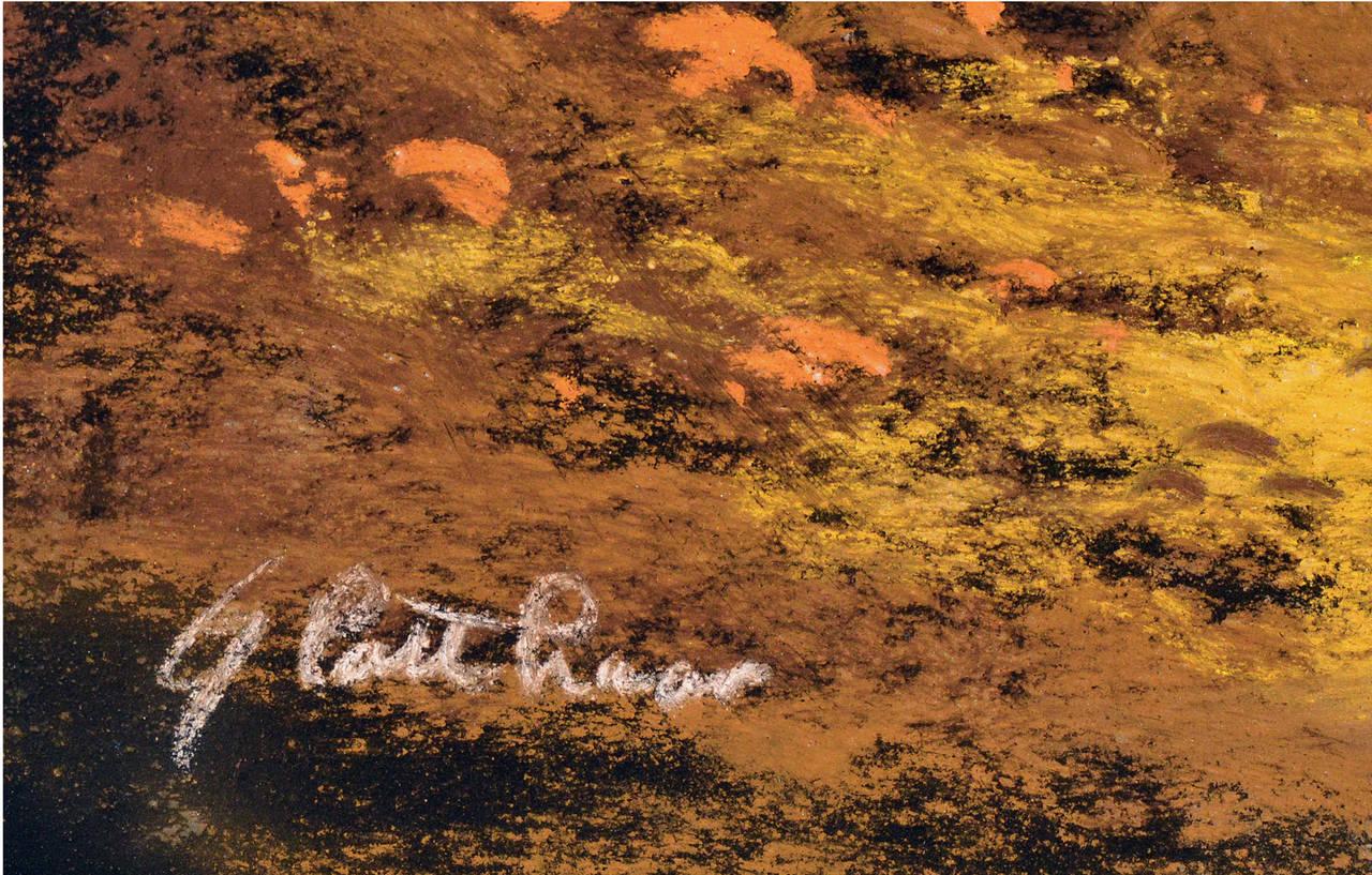 Country Cottage - Brown Landscape Art by Albert Francis Glatthaar