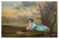 19th Century Woman by Lake - J. Glover