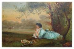 19th Century Woman by Lake - J. Glover