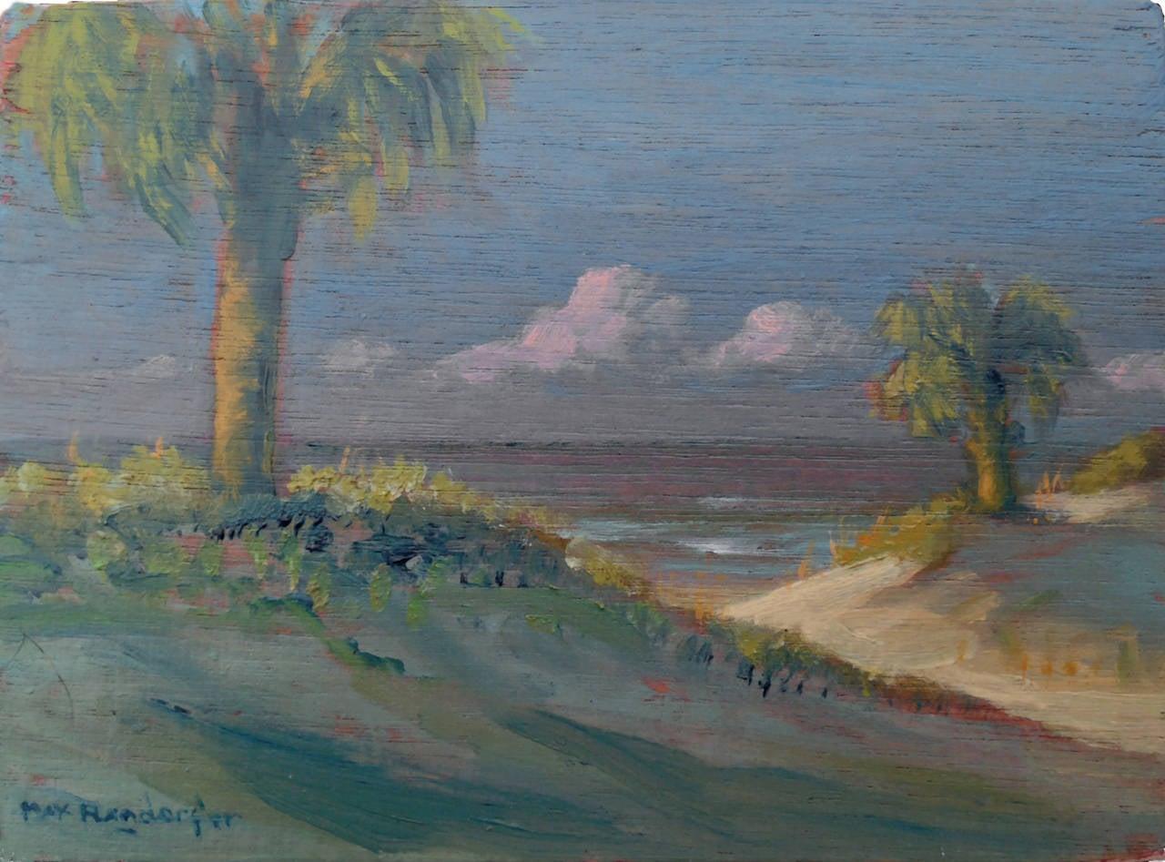 Path Through the Palms, Pensacola Florida Diminutive Landscape