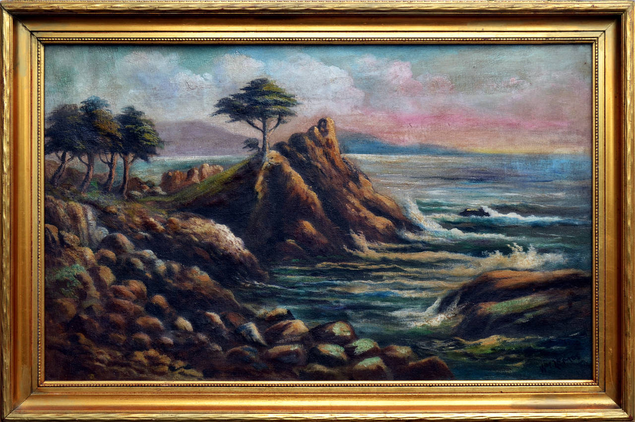 Cypress Point - Painting by William M. Lemos