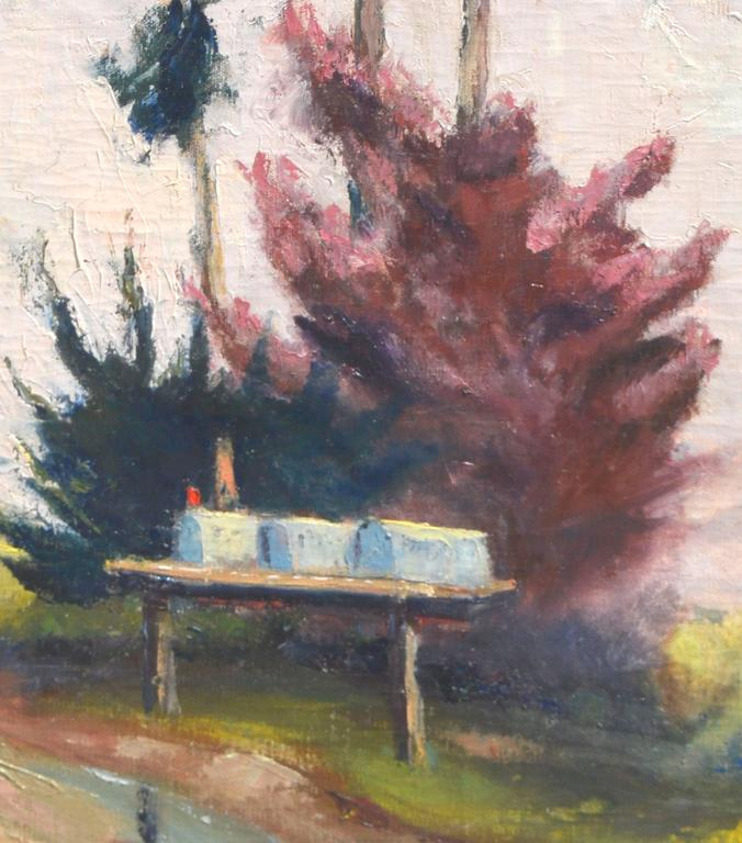 Abandoned Places In Battle Creek Michigan: Eucalyptus By Road, Painting For Sale At