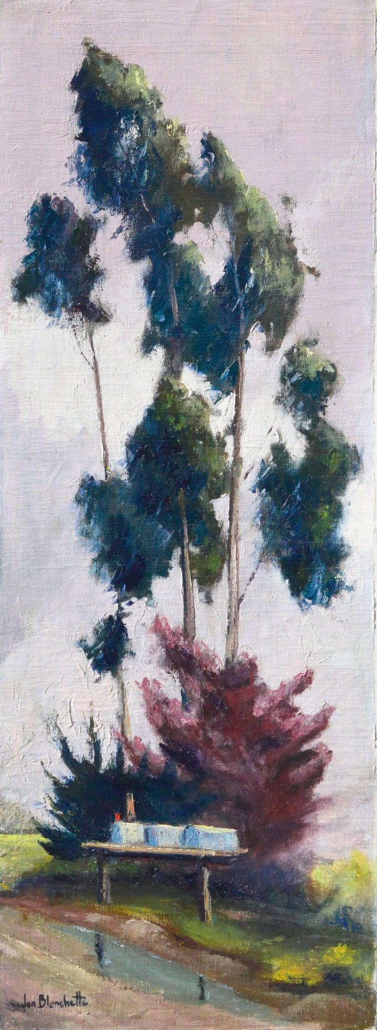 Jon Blanchette Landscape Painting - Eucalyptus by Road