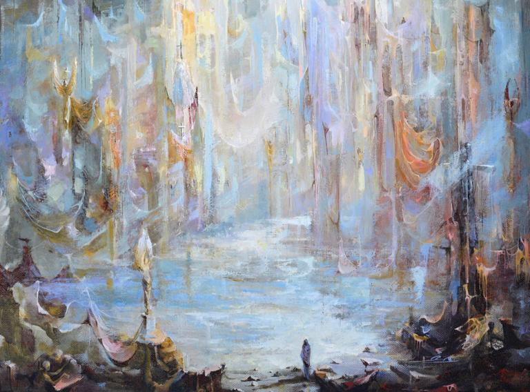 The Journey's End - Abstract Expressionist Painting by Unknown