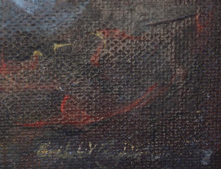 The Journey's End - Brown Abstract Painting by Unknown