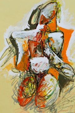 Abstract Expressionist Figure