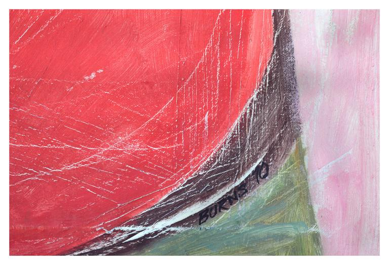 Two Vessels - Abstract Expressionist Painting by Robert Burns