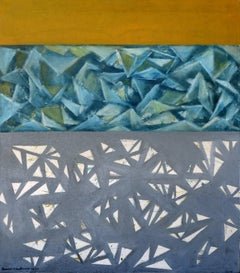 Yellow, Blue, and Grey Abstract, 1964