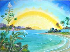 Island Sunset, Visionary Art
