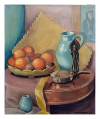 Oranges and Pitcher Still Life - Janice Katherine Gardiner Zydner