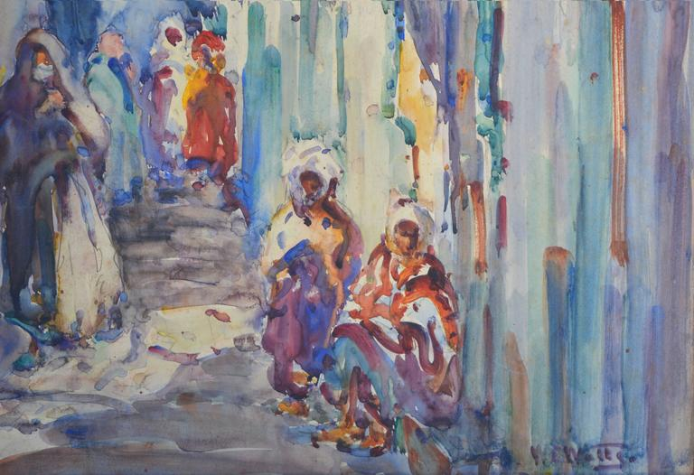 Constatine, Algeria - Abstract Impressionist Painting by William Clothier Watts