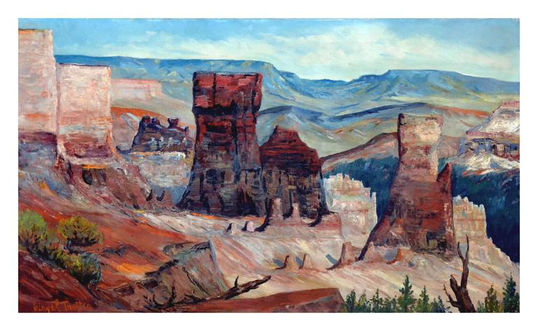 Virgil Trotter Grand Canyon 1930 Painting For Sale At