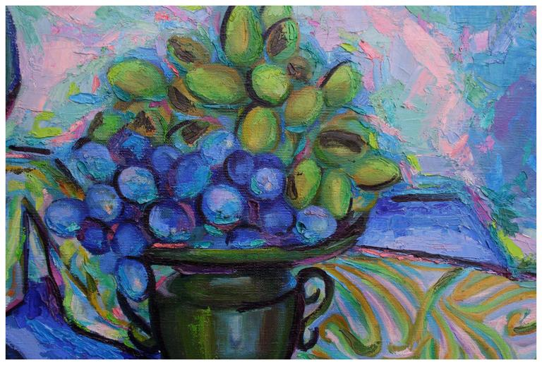 Green & Blue Study - Painting by Virginia Rogers