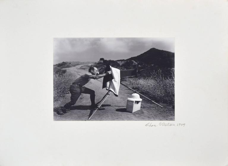Edward Weston at Oceano Dunes by Chandler Weston 1947