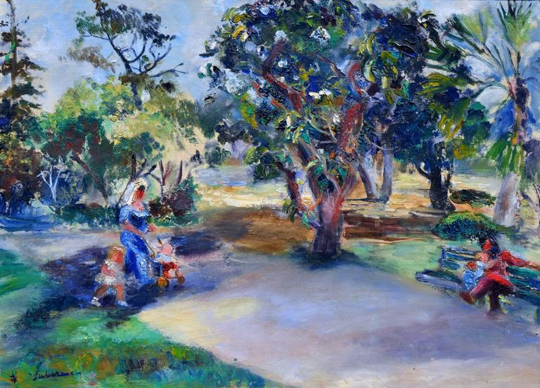 Stroll in the Park - Painting by Frances Beatrice Lieberman
