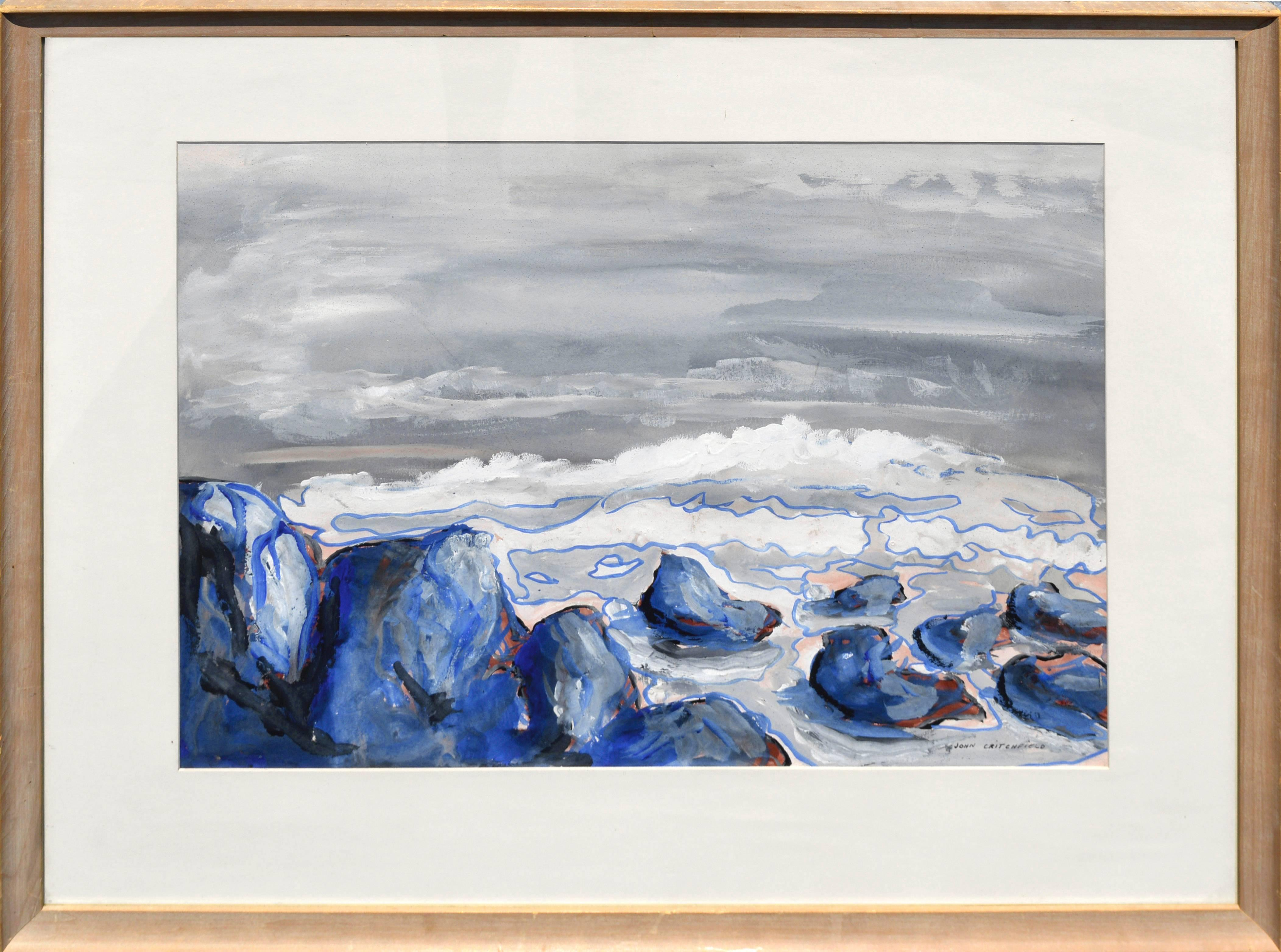 Blue Rocks, North Beach, San Francisco - Abstracted Landscape