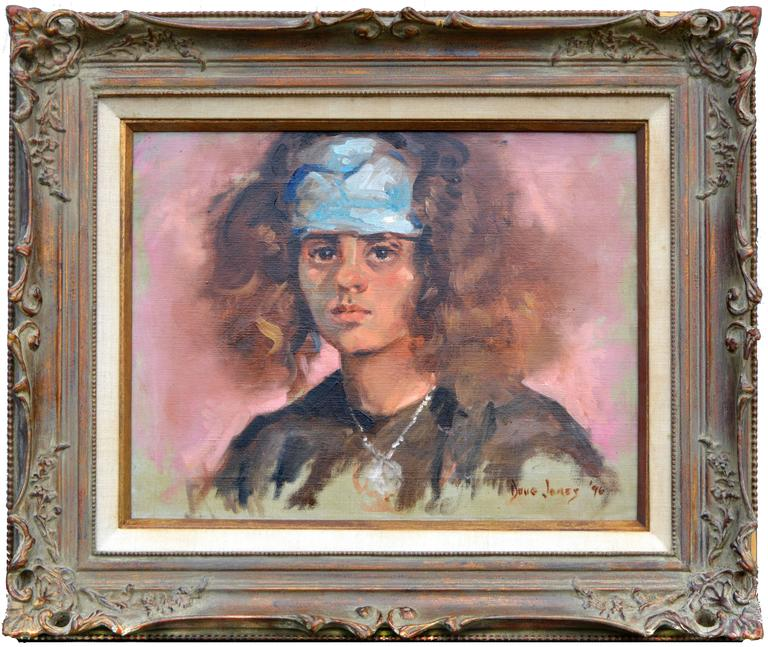 Douglas McKee Jones Portrait Painting - Young Girl with Scarf
