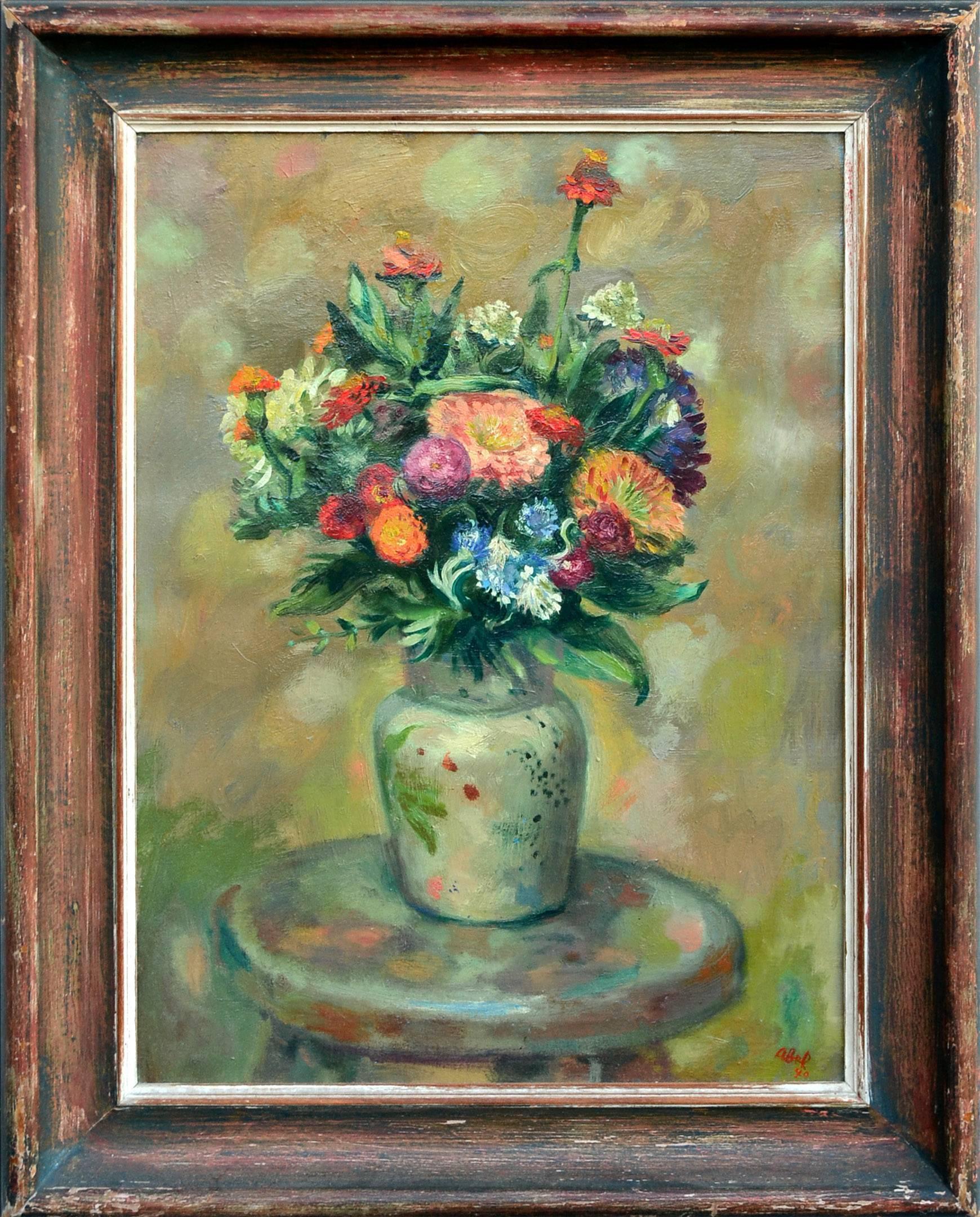 Summer Bouquet, Mid Century Still Life