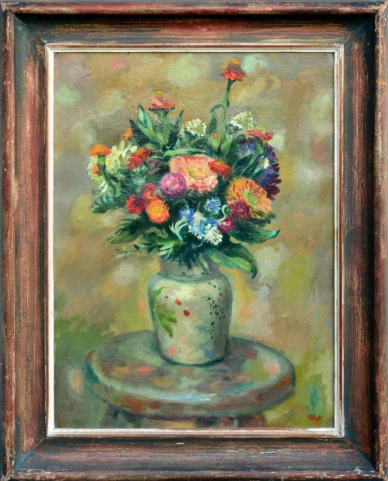Myer Abel Still-Life Painting - Summer Bouquet, Mid Century Still Life