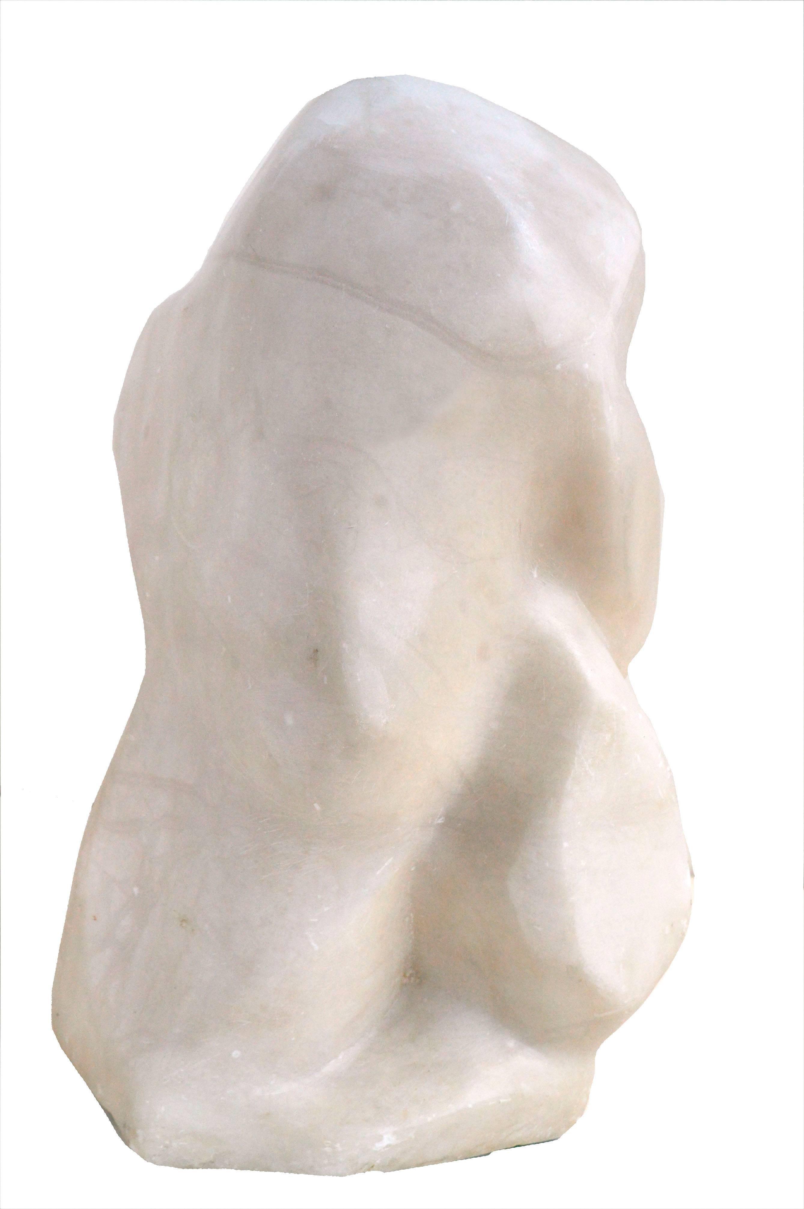 Mid Century Modern Abstract Figurative Alabaster Sculpture