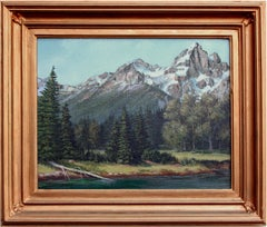 Mid Century California Mountaintops Landscape