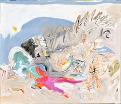 Abstract Expressionist Beach Scene