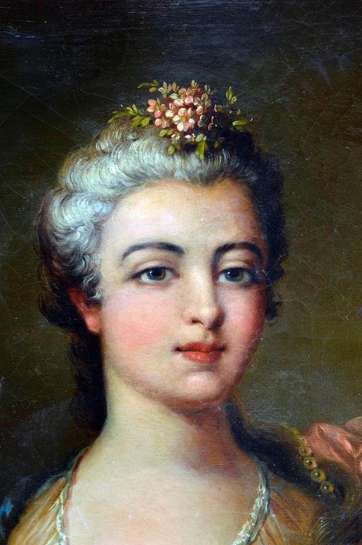 19th Century French School Portrait  - Rococo Painting by French School