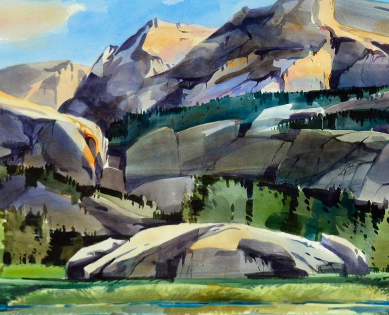 Wilderness Pass - Gray Landscape Painting by Dale Laitinen