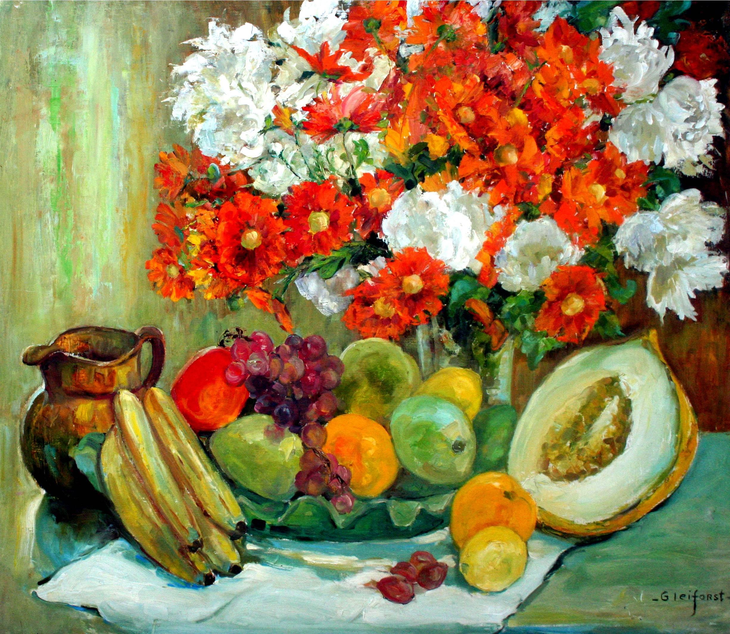 Mid Century Floral Bouquet and Splendor Still Life