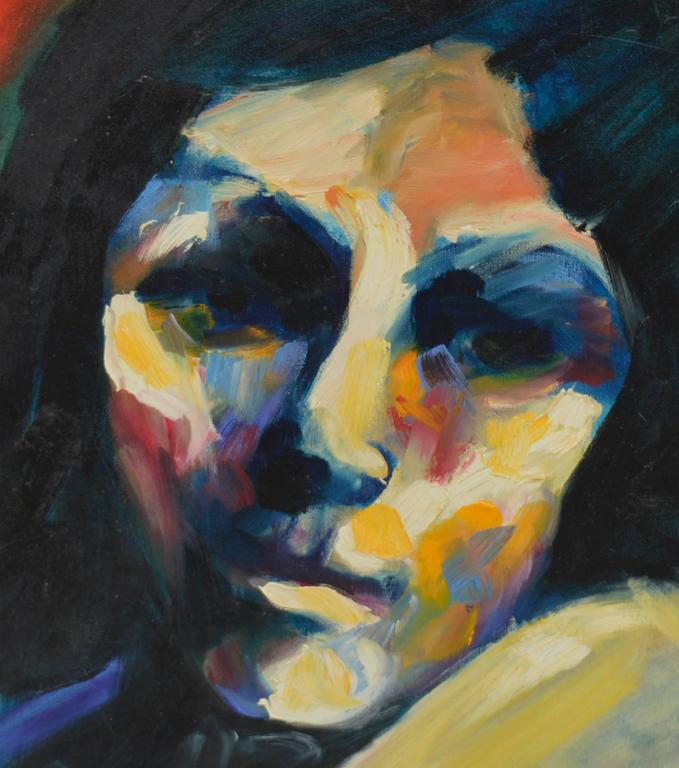 Fauvist Portrait of Woman - Painting by Sarena Rosenfeld