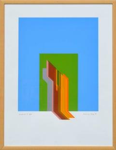"""Andante Grazioso"" - Geometric Abstract Screen Print"