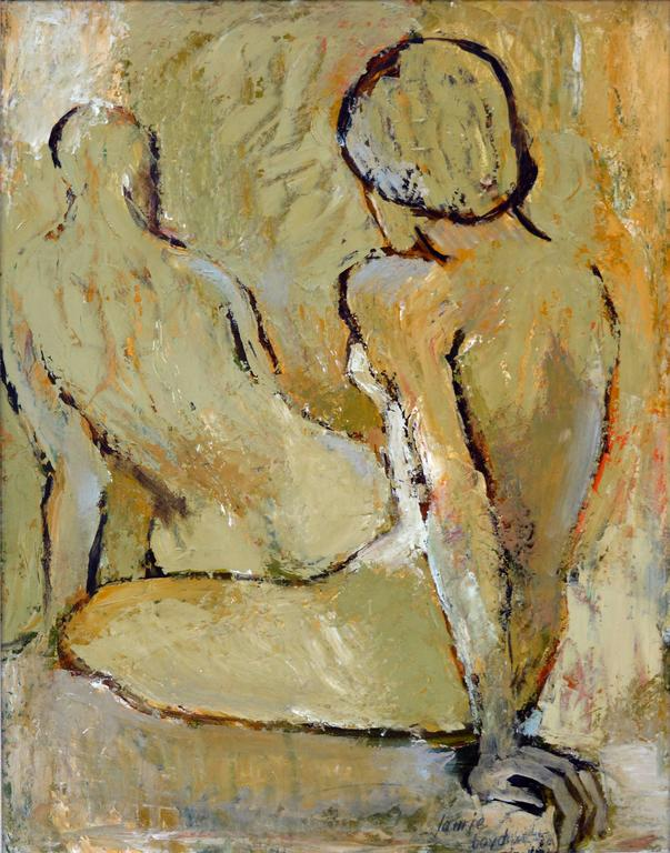 Two Figures - Painting by Laurie Boyd