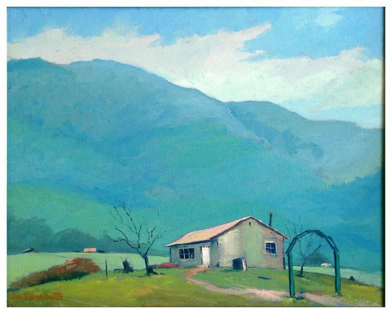 Mid Century California Landscape -- Mendocino Hills - Painting by Jon Blanchette