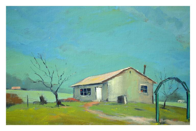 Mid Century California Landscape -- Mendocino Hills - American Impressionist Painting by Jon Blanchette