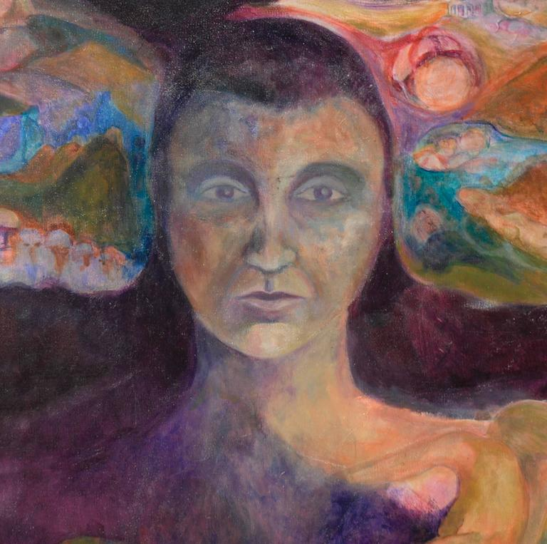 Woman of the Earth by Renard - Brown Figurative Painting by Unknown