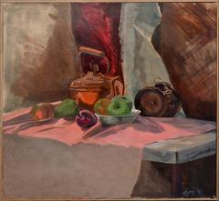 Cask and Copper Pot Still Life by Susan Lyons