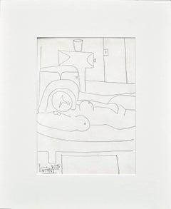 Picasso's Nephew's Reclining Nude, 1949