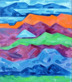 Bay Area Mountains Abstract Landscape