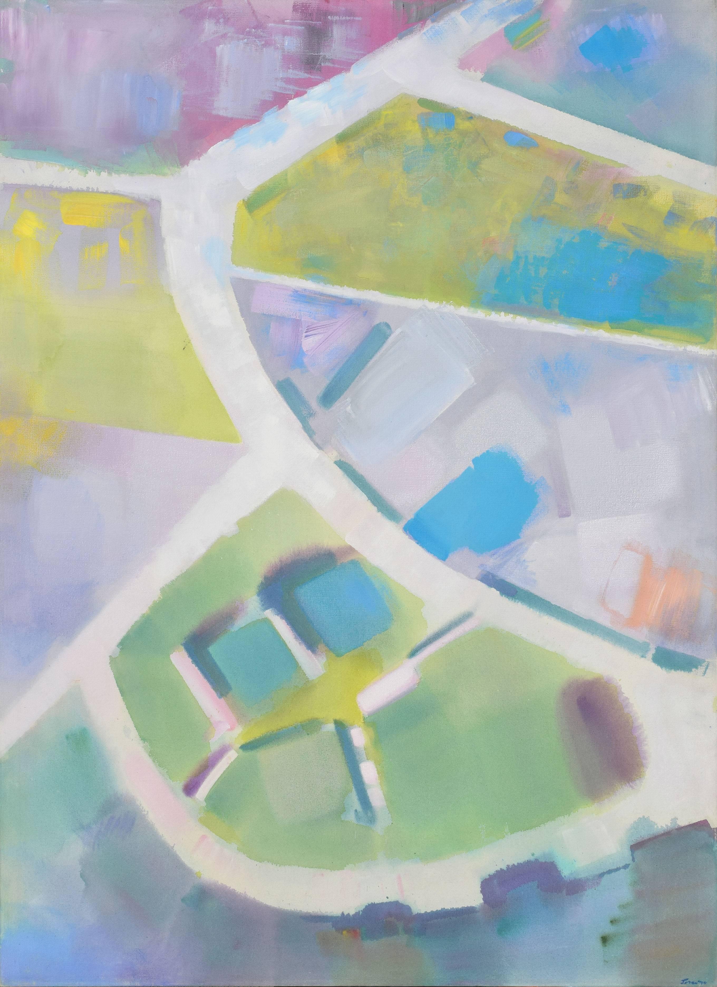 """Tidal Planes"" - Salt Ponds of San Francisco Bay Abstract Geometric Landscape"