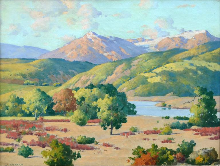 Rocks of Colorado Landscape  - Painting by Robert Jacob Richard