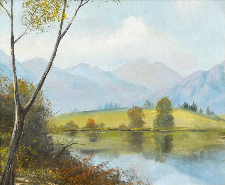 Midcentury Eastern Sierra Mountains Landscape - Painting by Unknown